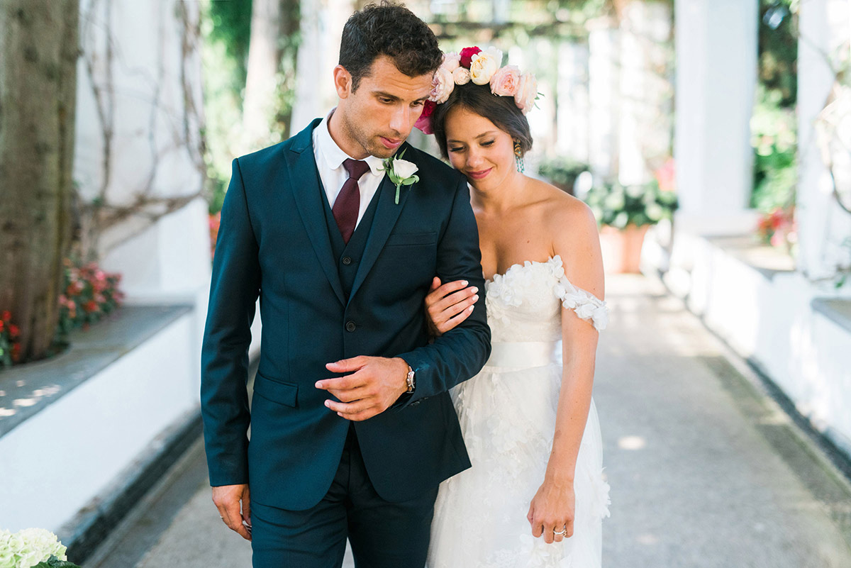 Boho Chic Wedding Amalfi Coast Ravello Wedding
