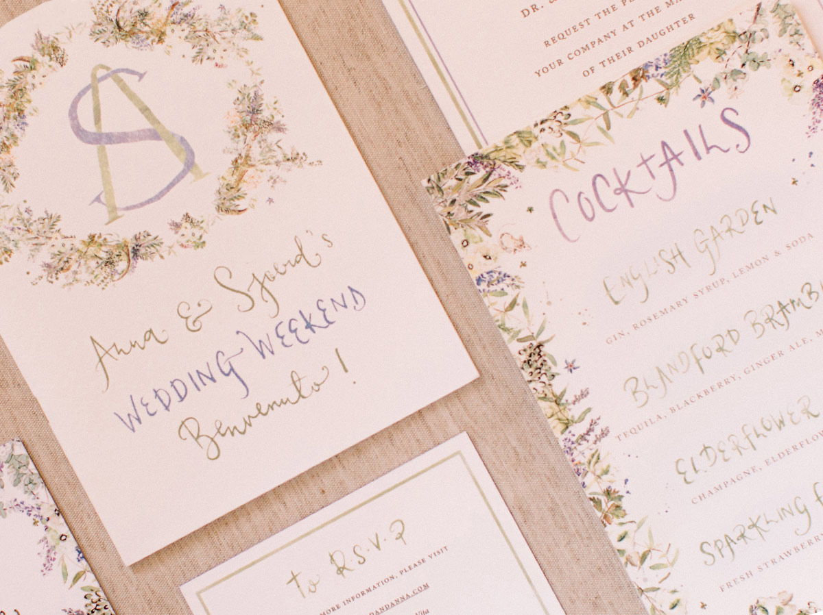 olive leaf invitations