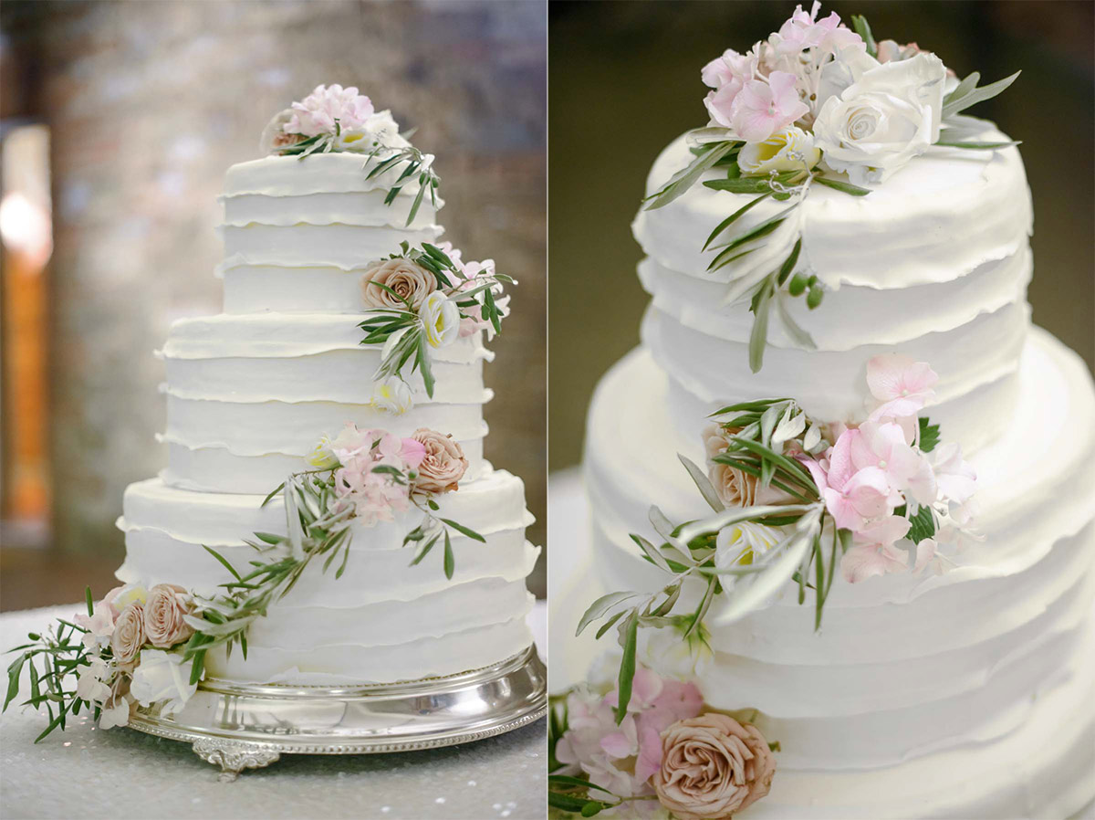 Tuscany Vineyard Wedding Cake