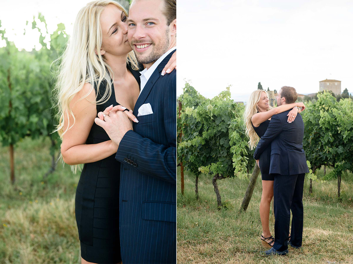 Tuscany Vineyard Wedding Engagement Session 2
