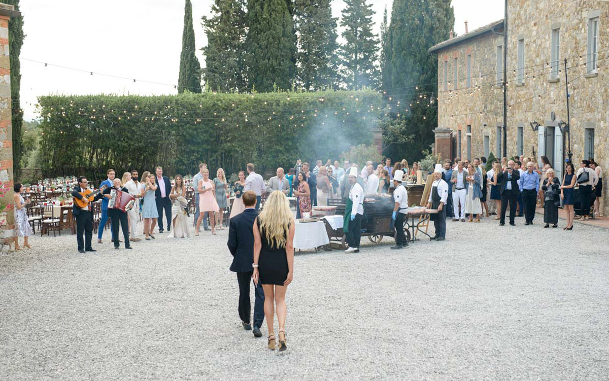 Tuscany Vineyard Wedding Welcome Dinner 10