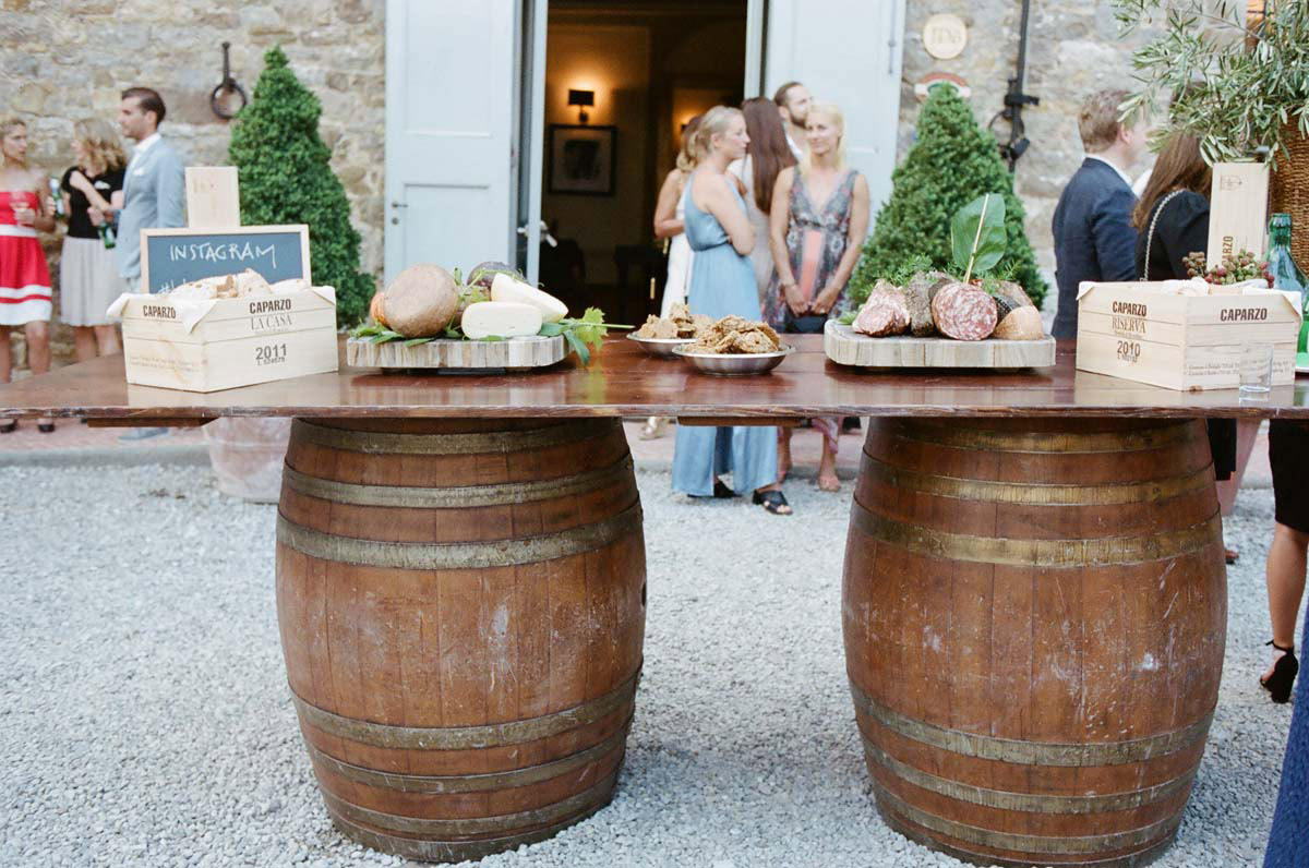 Tuscany Vineyard Wedding Welcome Dinner 13