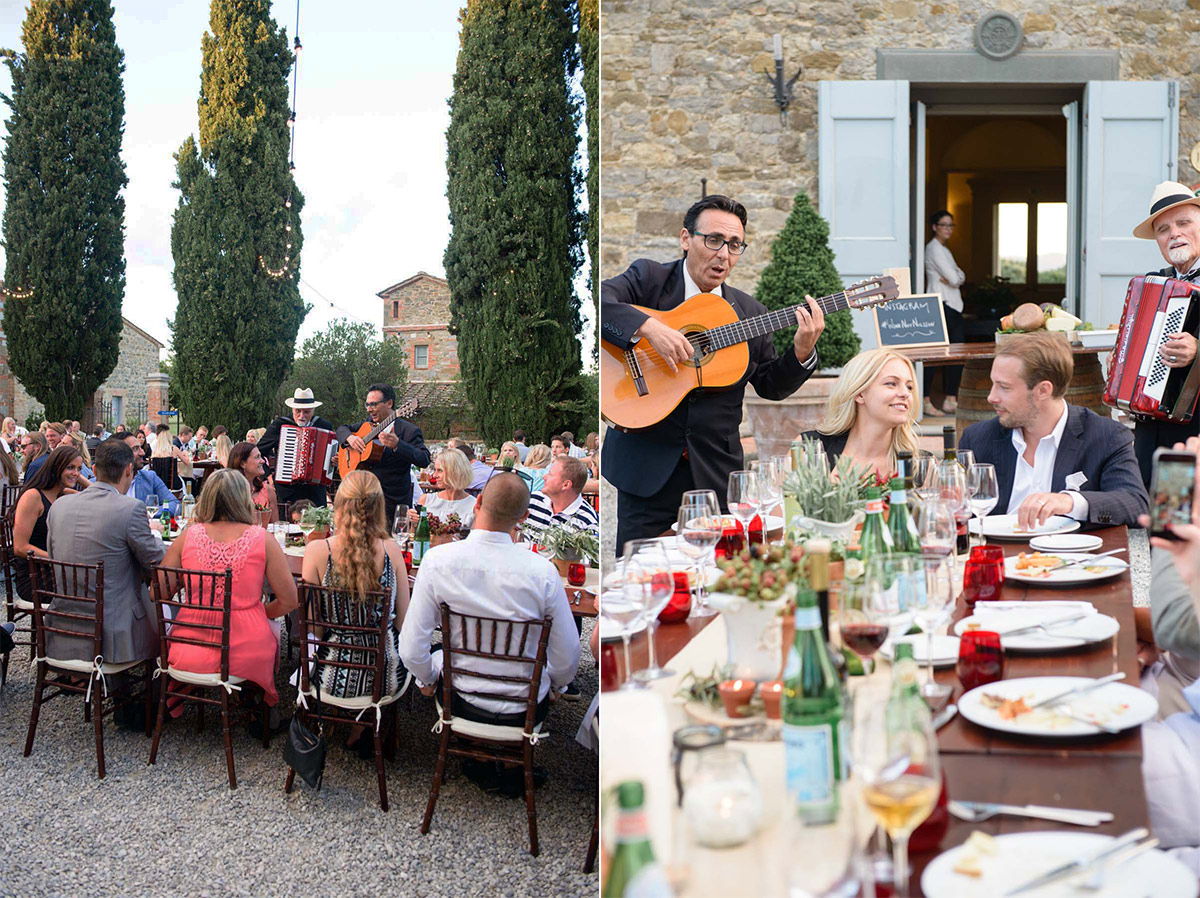Tuscany Vineyard Wedding Welcome Dinner 21