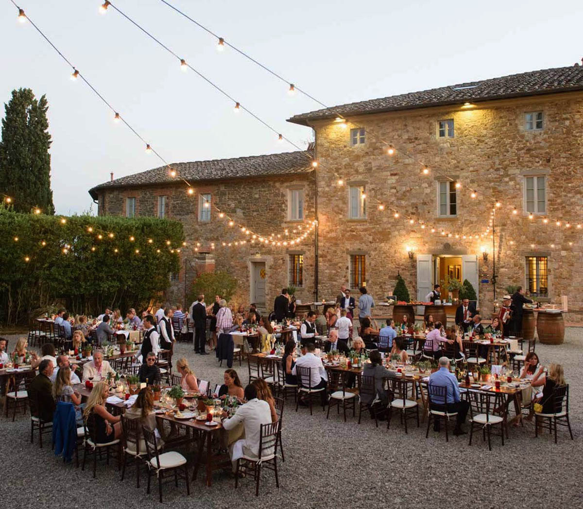 Tuscany Vineyard Wedding Welcome Dinner 23