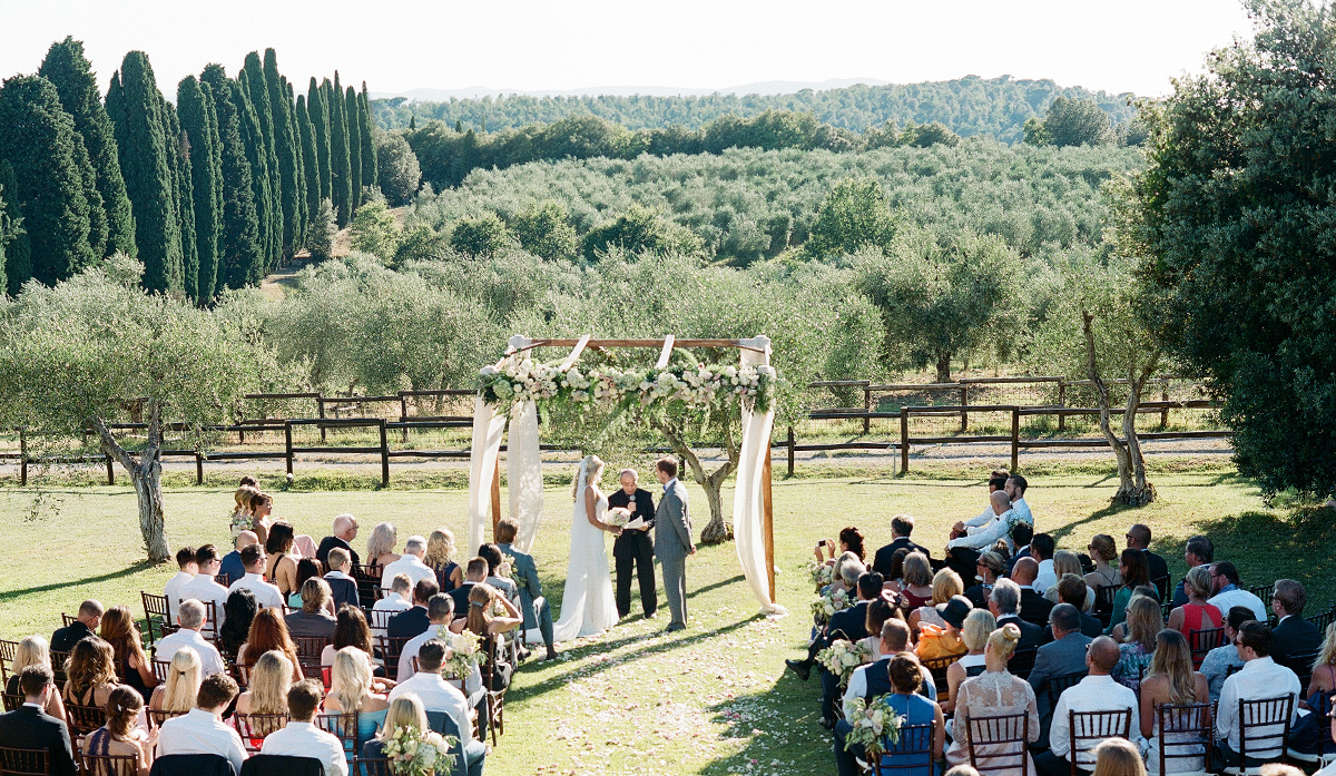 Tuscany Vineyard Wedding Ceremony Borgo Scopeto Relais
